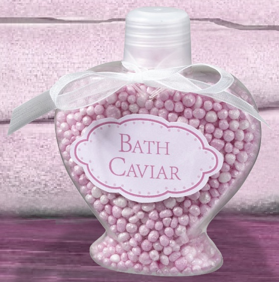 Pink Bath Beads Caviar Bottle Favors