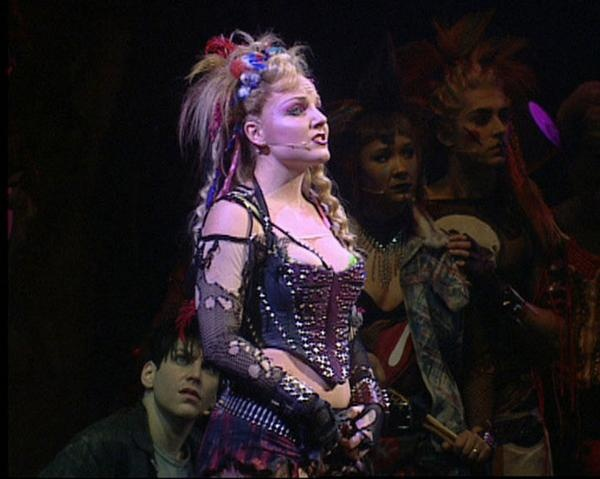 Kerry Ellis as Meat(loaf) in We Will Rock You, 2004ish.