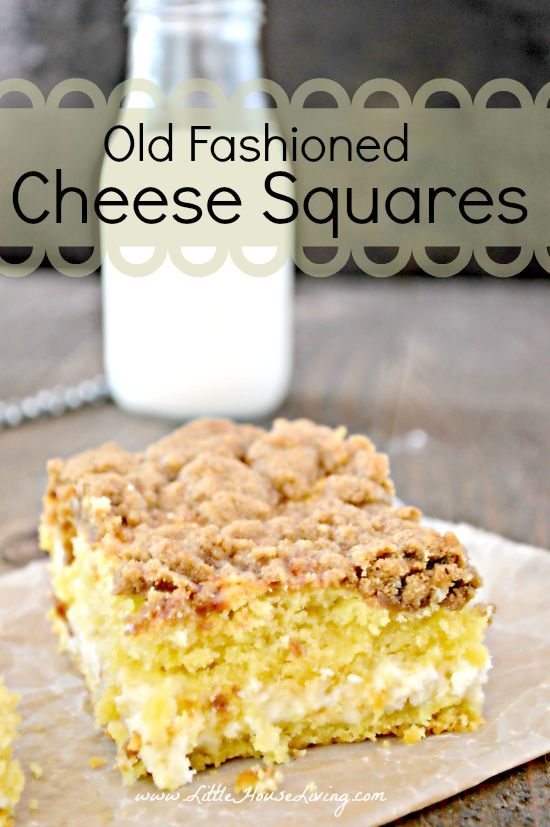 Enjoy these delicious Old Fashioned Cheese Squares over the holidays for a unique pastry treat!