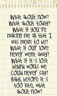 Daughtry what about now ❤