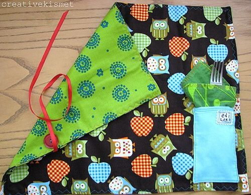 How To Make A Roll Up Lunch Mat Make Kid 39 S Crafts