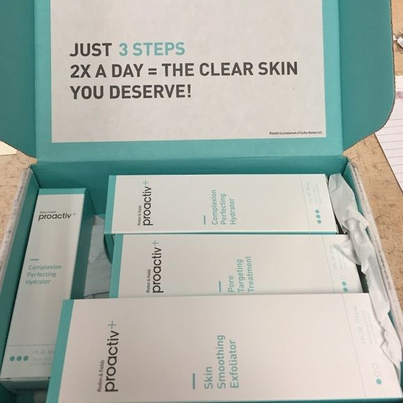 Proactive+ Kit Proactive+ Kit - Steps 1-3 with a travel size Complexion Hydrator.                                               All unopened & in original box. Proactive+  Makeup