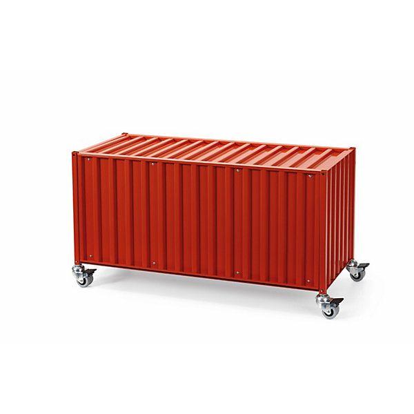 Synonym für Verstauen und Transportieren: Schrankmöbel in der miniaturisierten Gestalt der Überseecontainer. Sie sind stapelbar,... - Container DS