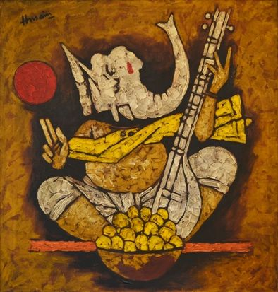 m f hussain paintings - Google Search