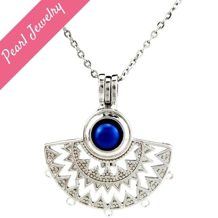 Dream Catcher Pearl Cage Floating Locket Necklace Pendant NO Akoya Oyster
