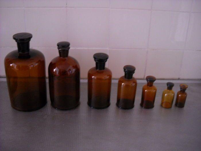 Online veilinghuis Catawiki: Apothekers potten, set van 7 suks