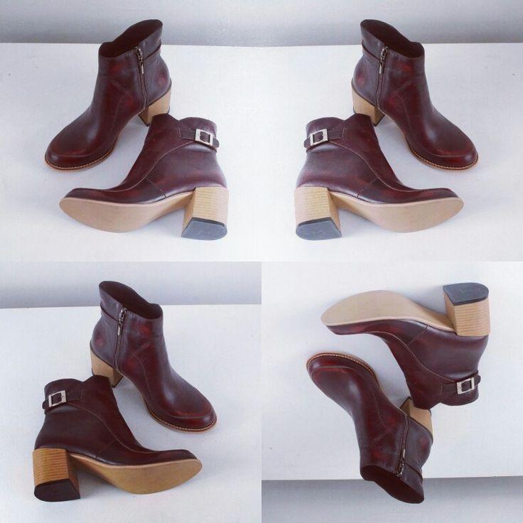 Botines vinotinto, disponibles todas las tallas #botines #botas #zapatos