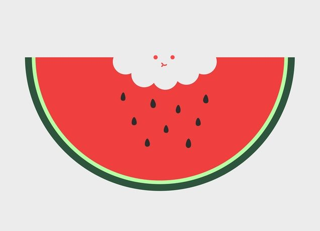 Water Melon by Haasbroek (URL: http://jacohaasbroek.com/) from Threadless   -- I like the positive and negative space --N