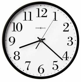 Black Framed White Dial Office Quartz Round Wall Clock 625254 Howard Miller