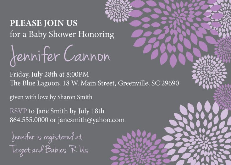 Lavender Baby Shower Invitations for your inspiration to make invitation template look beautiful
