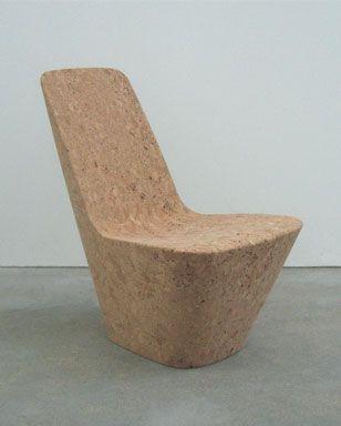Cork chair - Monopod by Jasper Morrison