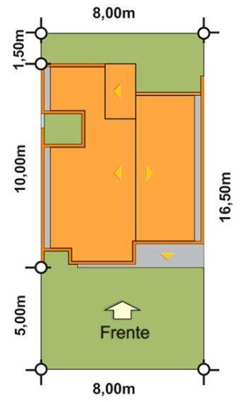 Planos de casas de una sola planta bonitas