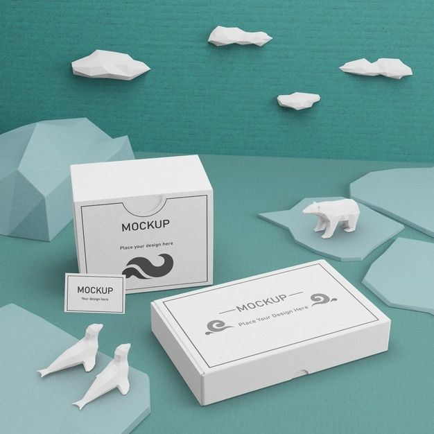Download Download Ocean Day Cardboard Boxes And Sea Life With Mock Up For Free Pink Jewelry Box Cardboard Box Ocean Day