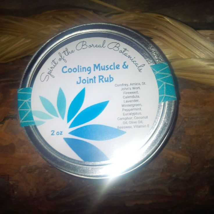 All Natural Herbal Cool Effects Muscle & Joint Rub by spiritoftheboreal on Etsy