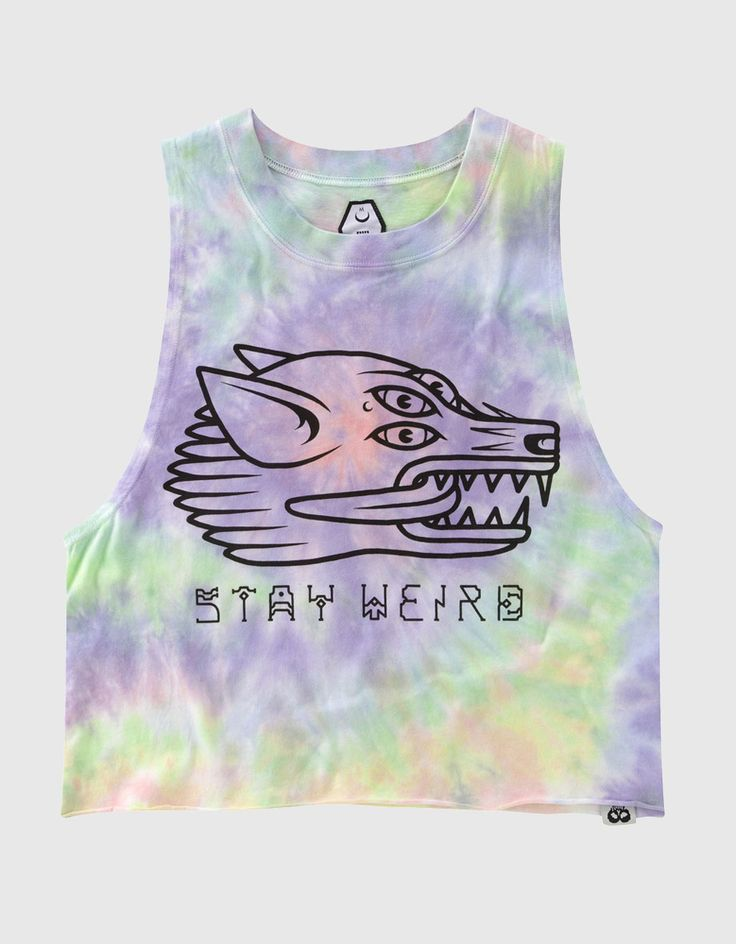Buy Stay Weird Crop Vest at Drop Dead Clothing
