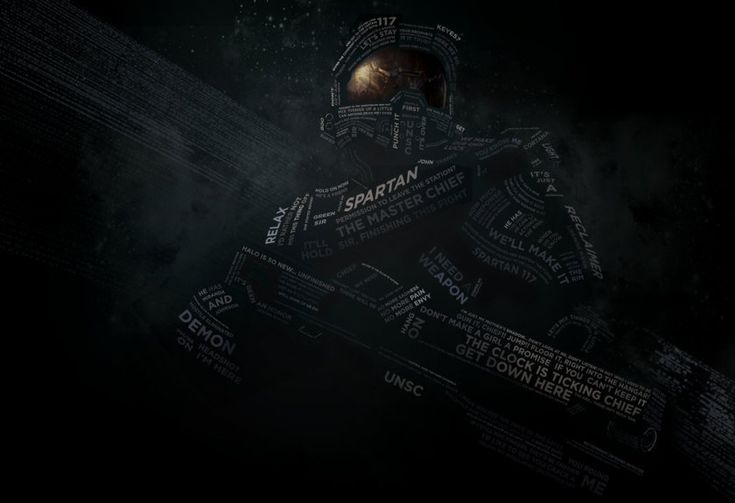HALO 4: Master Chief Recreated Using Typography - News - GeekTyrant