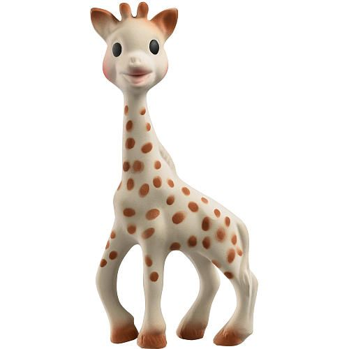 A must have! Sophie is made of 100% natural rubber and food paint. BPA an Phthalates free. $23
