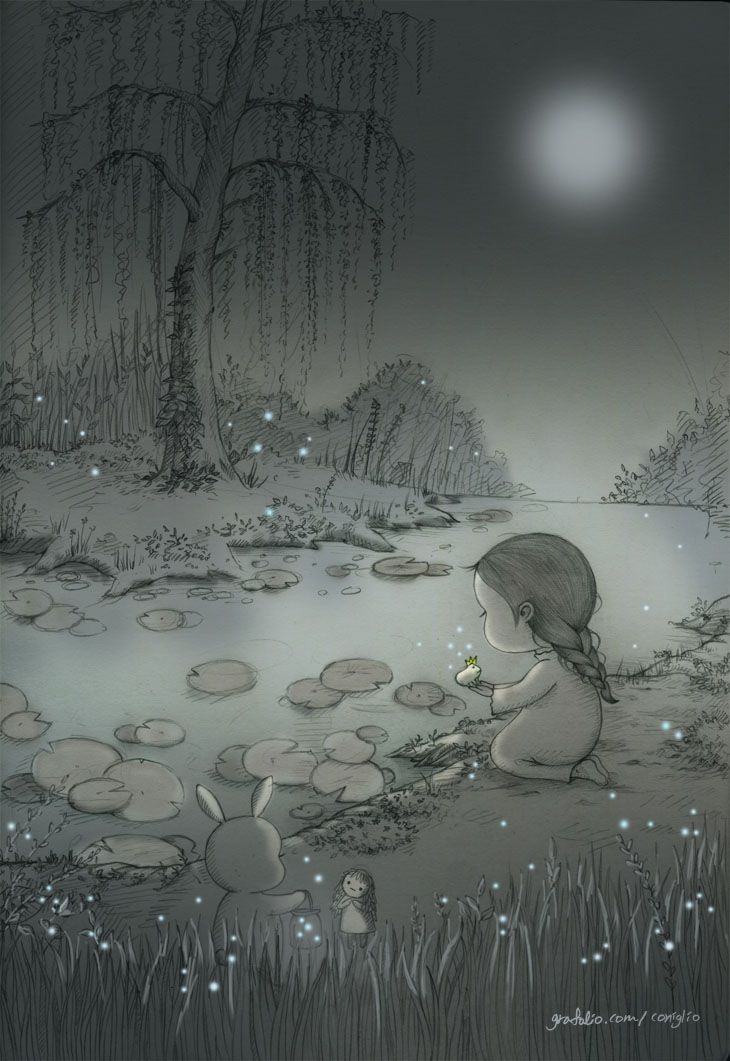 온 세상이 은빛으로 물들었던 그날 밤, 작고 귀여운 새 친구를 만났어요. That night, full of silver lights everywhere, I found a new little cute friend.