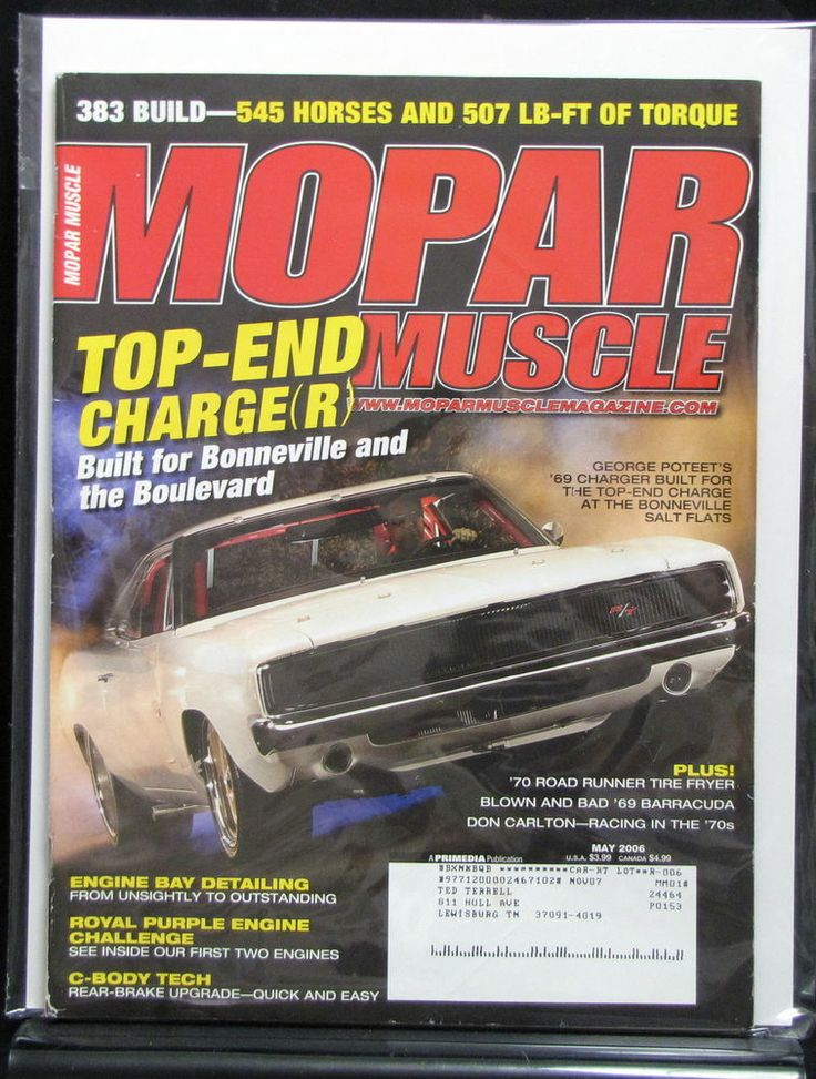 Mopar Muscle 2006 May Don Carlton George Poteet Engine Detailing DIY C-Body Tech