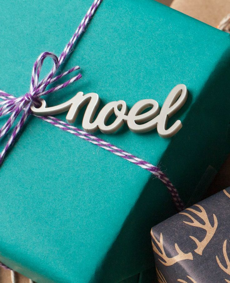 Noel Hand Lettered Christmas Gift Tag