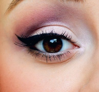 Pink eye shadow for brown eyes