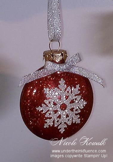 Silver Snowflake Glitter Ornament by nkowalk - Cards and Paper Crafts at Splitcoaststampers