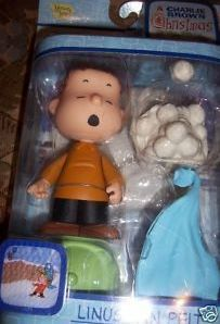 Relive a scene from the beloved Christmas Classic A Charlie Brown Christmas with this Linus Van Pelt Figure    Linus Van Pelt is Charlie Brown's best friend    He comes with:    Cap    Snow Ball Flinging Blanket    Snowball pile    Snowscape display base    Made by Memory Lane    For ages 6+    New in Package