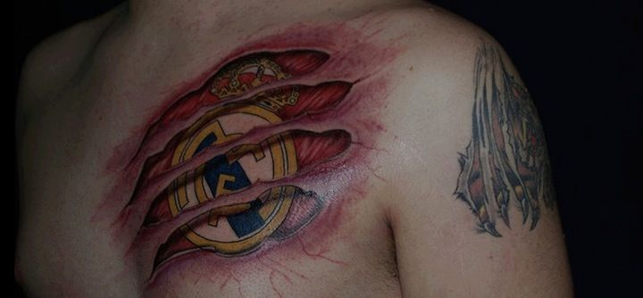 Real Madrid tattooReal Madrid Alas Madrid Madrid Tattoo