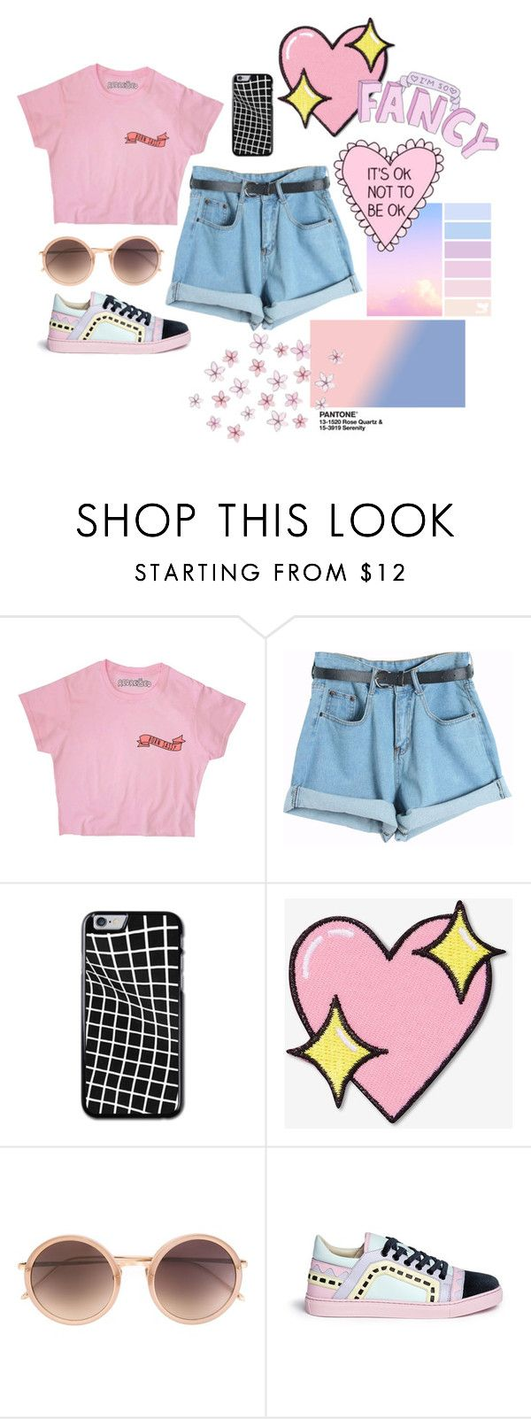 """Sin título #245"" by camilazeballo on Polyvore featuring moda, Chicnova Fashion, Big Bud Press, Linda Farrow y Sophia Webster"