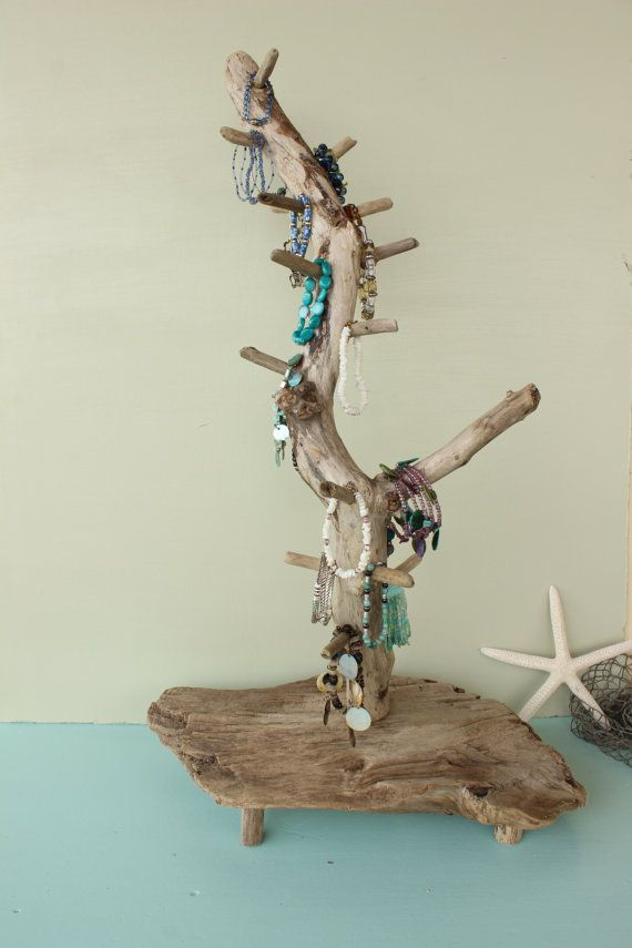 Rotating Driftwood Jewelry & Bracelet Display by StrollinTheBeach, $86.00