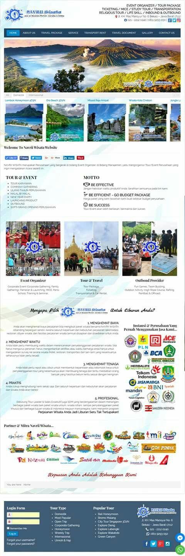Navrii Wisata. Website tour travel organizer Bekasi. Desain elegan untuk bisnis tour & travel anda.