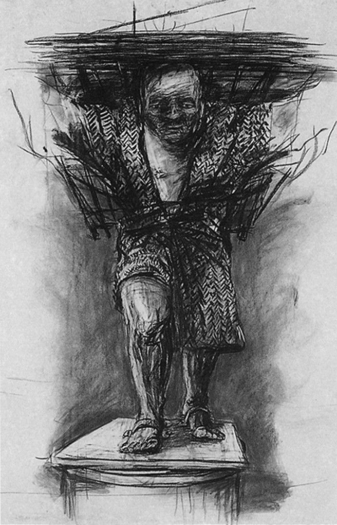 William Kentridge, Drawing for Monument, 1990