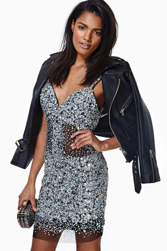 Glamourous Night Jewel Sequin Party Dress