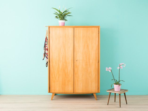 vintage kommoden 50er kleiderschrank kommode 60er musterring ein designerst ck von mid. Black Bedroom Furniture Sets. Home Design Ideas