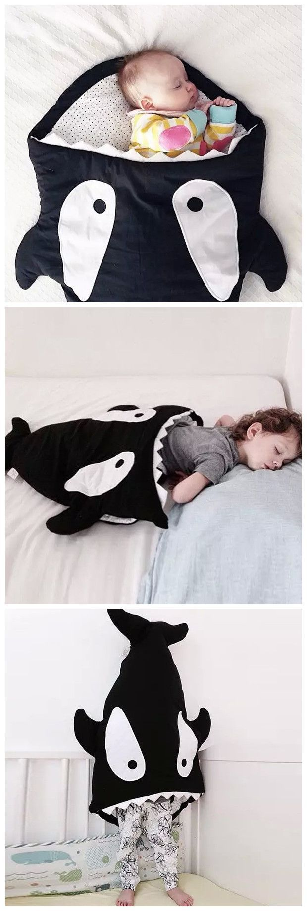 Cute Thick Shark Blanket by Blankie Tails For YOUR DEAR BABY - sounds like a sewing project to me