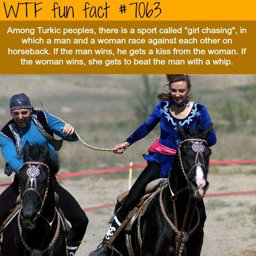 Girl chasing - WTF fun facts