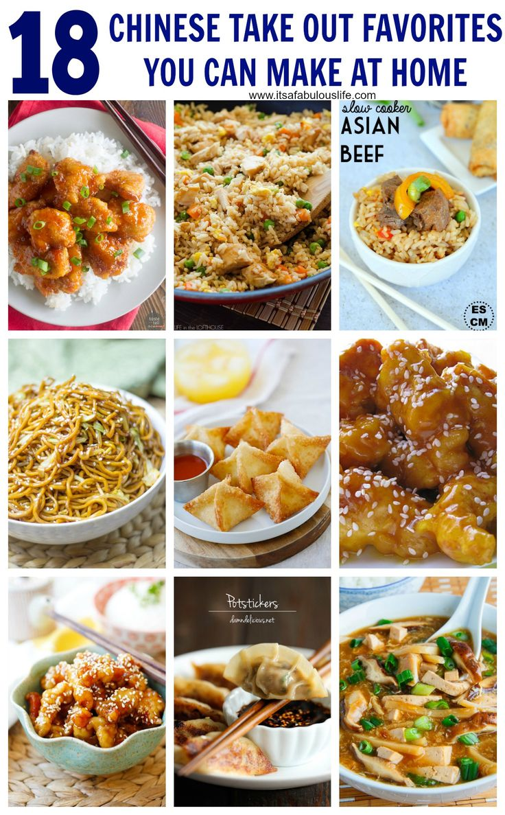 18 Chinese Recipes: Take Out Favorites You Can Make At Home