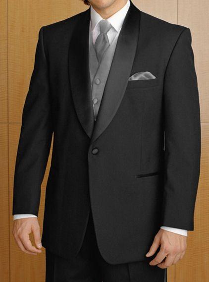 Custom Made Black Shawl Lapel Formal Tuxedo/wedding Suit for men /Groom wear tuxedo 3 peices set include(jacket+Pant+waistcoat) $159.00