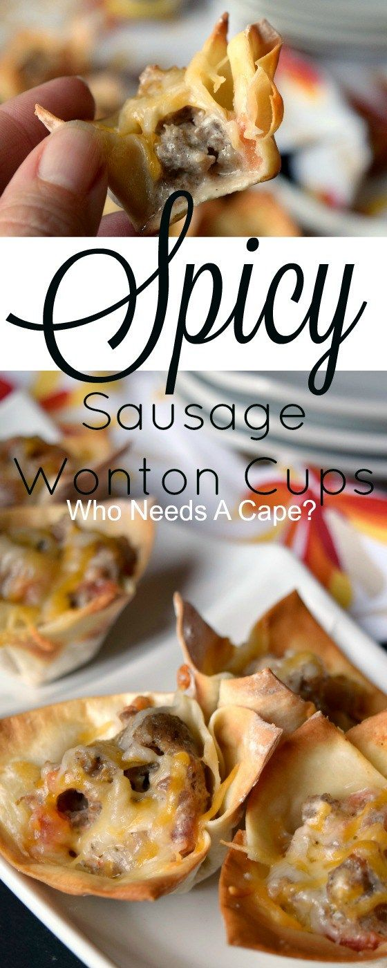 Let the party begin with tasty Spicy Sausage Wonton Cups. Little bites of deliciousness that will liven up your appetizer table. #ad #MakeHeartburnHistory @walgreens