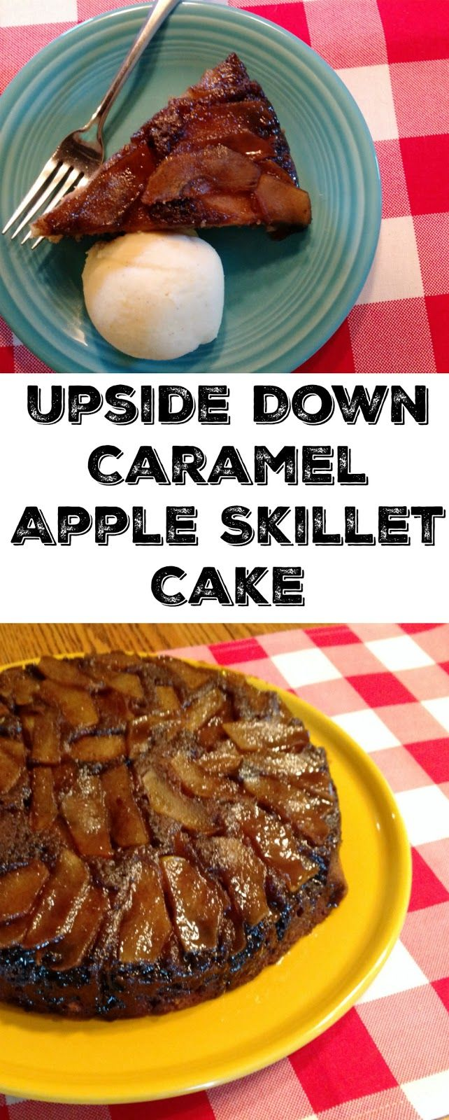 Cooking with Carlee: Upside Down Caramel Apple Skillet Cake - Mondays With MiMi