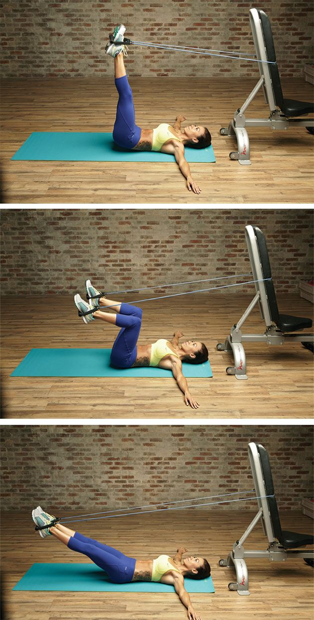Coupled with the power of Pilates, this band workout will give your midsection a unique pick-me-up.