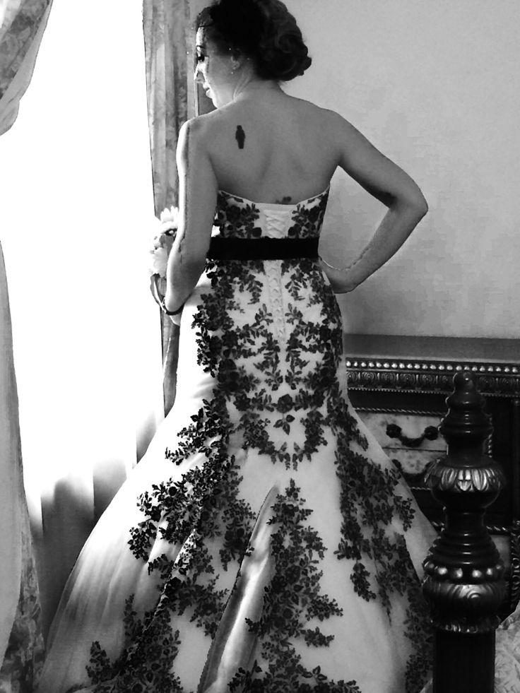 Skull Lace Wedding Dress Weddingdress Lace Black White