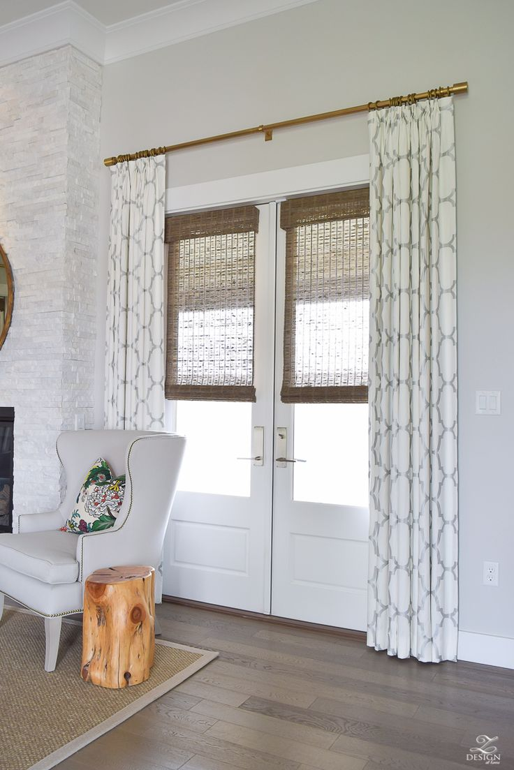 Single French Door Curtain Ideas
