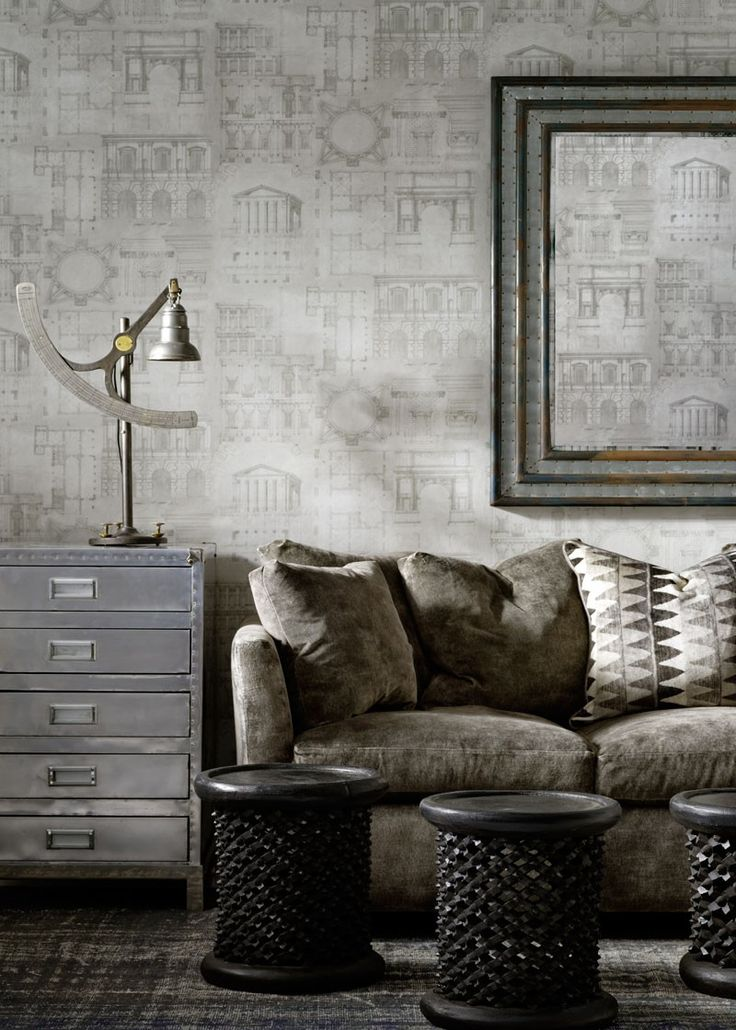 Augustus Wallpaper, Inspired by Century roman and Greek architecture,  Augustus is a subtle all over design in a range of three soft neutral  colours.