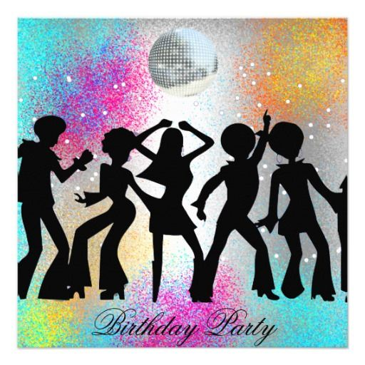 Dance Disco Birthday Party psychodelic Card