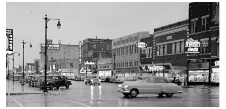 Main Street Hutchinson KS 1951