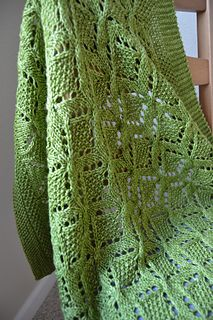 Snuggle that precious little one in your hand made gift of love, warmth and elegance. Great texture in the cable and lace pattern. Combine with a lovely colored superwash wool yarn and you will have a blanket mom and dad will constantly be reaching for.