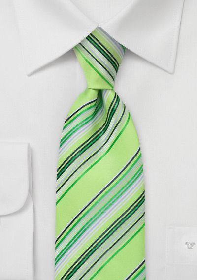 Krawatte Streifen Hellgrün
