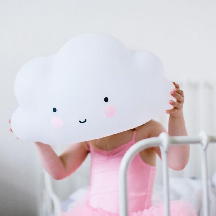 XL Kinderzimmer LED Lampe Wolke Weiss