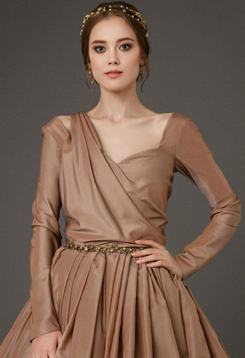 HESTIA Now you can buy Royal dresses that are made of natural fabrics from the trendy Russian designer Victoria Spirina. site http://victoriaspirina.com A nice price and very high quality tailoring.  alternative wedding dress, Open back wedding dress,  Low back wedding dress, Sexy wedding gown ,Dramatic wedding dress, Plunging neckli new edding dress